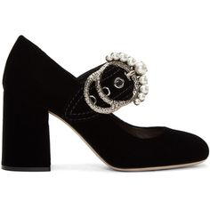 Miu Miu Black Velvet Mary Jane Heels (2.625 BRL) ❤ liked on Polyvore featuring shoes, miu miu, black, black velvet mary janes, black maryjane shoes, miu miu shoes, velvet shoes and high heeled footwear