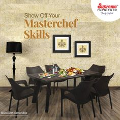 Perfect Dining Sets to become a culinary star at home. Explore our premium & durable tables and chair sets on our website & app.  #SupremeFurniture #MouldedFurniture #PlasticFurniture #BeautifulSpaces #Durable #Sturdy #Vibrant #Aesthetic #TrulyStylish #HomeDecor #LowMaintenance #EasyToClean #StackableFurniture #Decor #IndoorFurniture #OutdoorFurniture #HomeInteriors #Indian #IndianBrand #VocalForLocal