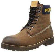 Pepe Jeans London NEPAL RUGGED DISTRESS, Herren Combat Boots, Braun (878BROWN), 45 EU - http://on-line-kaufen.de/pepe-jeans/45-eu-pepe-jeans-london-nepal-rugged-distress