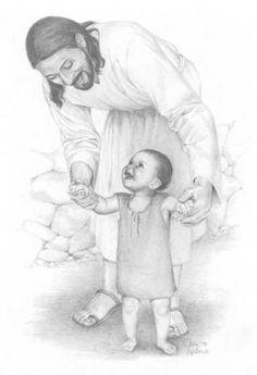 Walking with Jesus . Jesus loves the little children . Jesus Art, My Jesus, Jesus Pics, Jesus Laughing, Laughing Jesus Picture, Image Jesus, Religion, Pictures Of Christ, Art Pictures