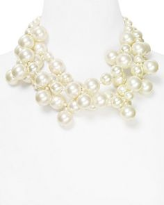 Kenneth Jay Lane Triple Strand Pearl Necklace, 16"