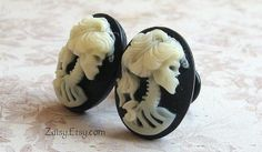Zombie Cameo Plugs for Gauged Ears Sizes 1/2 Inch, 00g, 0G, 2G, 4G , 6G, 4mm, 5mm, 6mm, 8mm, 10mm, Also For Pierced Ears on Etsy, $27.22 CAD