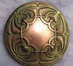 Arts & Crafts Copper Button