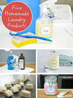 Make these five laundry products yourself to avoid using harsh chemicals and costly products! From washing soda to laundry detergent, these DIYs are easy and will save you tons! http://www.ehow.com/how_12343607_5-homemade-products-freshen-up-laundry-routine.html?utm_source=pinterest.com&utm_medium=referral&utm_content=curated&utm_campaign=fanpage