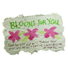 Plantable Greeting Cards found on familyfun.com (was submitted to them by a Girl Scout Troop in Oklahoma)  These cards are not only earth friendly, but are also a great gift for the Adult Volunteers who work with your Girl Scout Troop.  Earth Day and Volunteer Appreciation Day are April 22.