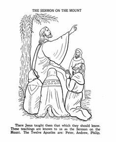The Sermon on the Mount coloring page