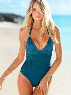 Ruched Halter One-piece from Victoria's Secret - Super flattering on!