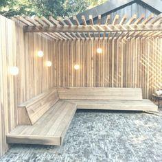 Garden Design Backyard - New ideas Backyard Seating, Backyard Patio Designs, Garden Seating, Backyard Projects, Backyard Landscaping, Terrace Garden, Garden Beds, Terrazas Chill Out, Casa Patio