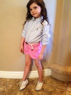 scrubsandpearls: ralph-lauren-prep I try and dress the babies like this but their wardrobe just doesn't allow. Crazy nanny over here for wanting to make them mini me preps? This is my future child. Cute Little Girls, Cute Kids, Little Girl Fashion, Kids Fashion, Preppy Kids, Kids Outfits, Cute Outfits, Future Daughter, Daughters