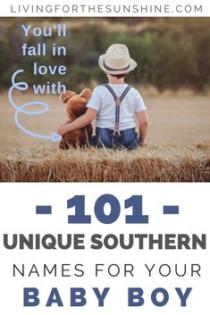 Are you looking for a unique Southern name for your baby boy? This list of Southern boy names will help you find the perfect name for your new son! Lots of Uncommon names, rustic names, rare names, preppy names, masculine names and more! Southern Baby Boy Names, Unique Baby Boy Names, Old Southern Names, Simple Boy Names, Country Names, Last Names For Boys, Strong Boys Names, H Boy Names, Rustic Boy Names