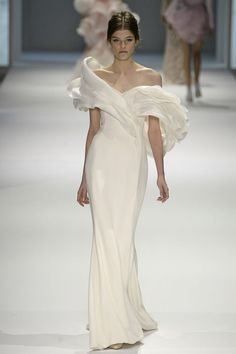 Ralph & Russo Couture Spring 2015 - major ruffle shoulders for high fashion frou frou brides