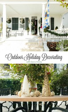 Get gorgeous Christmas curb appeal with these outdoor decorating ideas from Laura Trevey of Bright Bold & Beautiful.