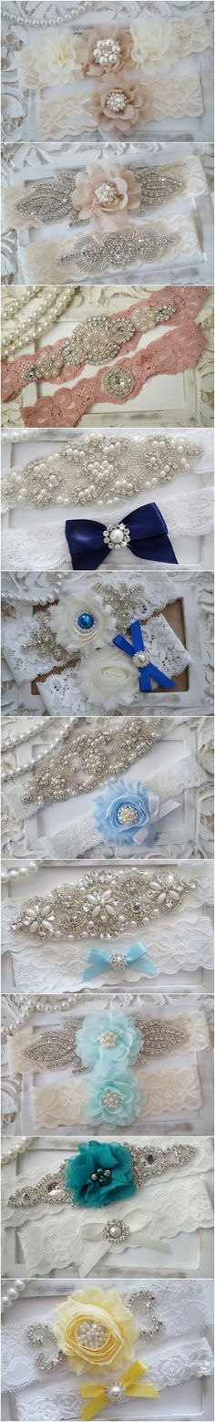 Vintage Lace Wedding Garter Set via OneFancyDay | Deer Pearl Flowers