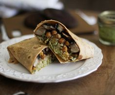 Eat to Beat: Portabella and Chickpea Burritos with Chimichurri Sauce