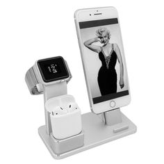Charging Dock Station Holder Stand for Airpods/Apple Watch/iPhone/iPad Apple Watch Accessories, Ipad Accessories, Airpods Apple, Mobile Holder, Apple Watch Iphone, Iphone Holder, Wearable Device, Apple Watch Series 2, Docking Station