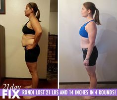 """21 Day Fix before and after - Rondi L. couldn't keep up with her kids. She decided to try 21 Day Fix because of the testimonials she saw. She said, """"Eating healthy and exercising daily isn't as hard as I thought. I even use the containers with my husband and kids. It's been a great experience for all of us."""" http://www.tipstoloseweightblog.com/weight-loss/21-day-fix-workout-review #15LBWeightLoss"""