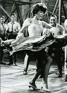 "Rita Moreno, as Anita in West Side Story I consider the ensemble dance number to ""America"" one of the greatest ever on screen and on Broadway, and Rita is pure gold in it. Rita Moreno, Shall We Dance, Lets Dance, Classic Hollywood, Old Hollywood, Film Musical, Broadway, Cinema Tv, City Ballet"