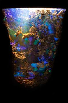 Boulder Opal 1 - The Art of Photomicrography: Gemstone Inclusions by Danny Sanchez ; Amazing example of Boulder Opal Cool Rocks, Beautiful Rocks, Minerals And Gemstones, Rocks And Minerals, Mineral Stone, Rocks And Gems, Stones And Crystals, Gem Stones, Queensland Australia