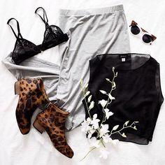 Renda Com Leopard Boots