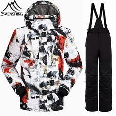 Adults Men Ski Jacket Winter Snowboard Suit Women Outdoor Warm Thick Coat Waterproof Windproof Breathable Jackets Clothes Sports & Entertainment