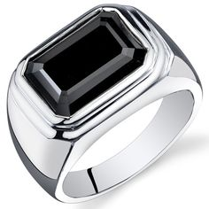 MSRP: $299.99  Our Price: $99.99  Savings: $200.00    Item Number: SR10946    Availability: Usually Ships in 5 Business Days    PRODUCT DESCRIPTION:    Distinguished by a rectangular onyx center set in a Fine Sterling Silver band, this men's ring is features excellent craftsmanship and finishing. A high-polish finish completes the look.    FEATURES:    Crafted in Fine Sterling Silver  14 x 10 mm Emerald Cut Black Onyx  Polished Finish    PRODUCT SPECIFICATIONS:    Metal Type: Sterling Silver…