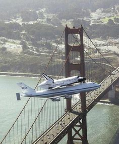 Space Shuttle coming Home to Los Angeles.