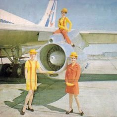 Air Rhodesia hostesses received new uniforms when the new (sanctions busting!) Boeings arrived