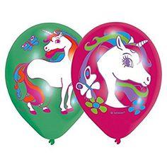 *Werbung |🦄 Einhornparty: 6 Luftballons * REGENBOGEN EINHORN * für Kinderparty und Kindergeburtstag // Einhorn Deko Ballons Party Set Kinder Geburtstag Mottoparty Einhorn