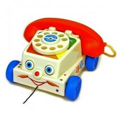 Fisher-Price Chatter Telephone 1962 Pull Toy_D - Retro Planet Vintage Toys 1970s, 1960s Toys, Vintage Fisher Price, Retro Toys, Retro Vintage, 1980s, Vintage Style, Vintage Items, Childhood