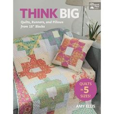 From best-selling author Amy Ellis, this collection features 10 original graphic blocks incorporated into 24 fabulous projects for home decor. Choose from simple, practical designs in a book that's brimming with variety and value for all skill levels. Achieve a cohesive look; each block is featured in a coordinating set that includes a quilt, pillow, and table/bed runnerCreate designs that showcase your fabrics; all blocks finish at 18″ and are easy to mix and matchFollow clear instructions…