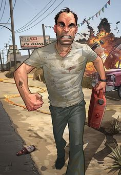 GTA V Comic Illustration by Patrick Brown