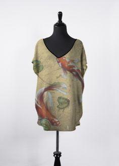 Sheer Wrap - koi and lotus by VIDA VIDA JrRMqX