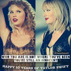 10 YEARS OF TAYLOR SWIFT... LOVE HER ALOOOOOOOT EDIT CREDIT @theswiftieswift