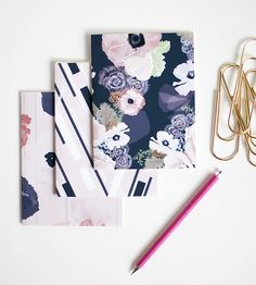 Une Femme Jotter Notebook Set | Pocket sized and colorful, these mini notebooks are ready to g... | Notebooks & Notepads