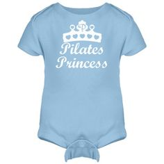 Pilates Princess | Pilates Princess onesie! For your little powerhouse! Rest position logo on back, to inspire you little one to nap.  Look for more in this Collection. Samira's love of design and art, is combined with her dance career and knowledge to bring you high end graphics on a beautiful assortment of products.  For special requests, not shown on this site, contact samirashuruk.com Use our storefront search bar to find other items with your favorite design collection, color, d...