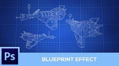 Cartoon effect v2 photoshop tutorial portrait into easy vector how to create a blueprint effect photoshop tutorial youtube malvernweather Choice Image