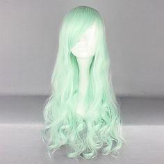 Moly Girl Mint 70cm Princess Lolita Wave Wig - USD $ 29.99