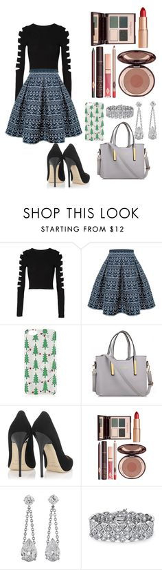 """""""12 days of Christmas Day 11 (bonus!!("""" by chiclifewithstyle on Polyvore featuring Cushnie Et Ochs, Rumour London, Topshop, Jimmy Choo, Charlotte Tilbury, Palm Beach Jewelry and 12daysofchristmas"""