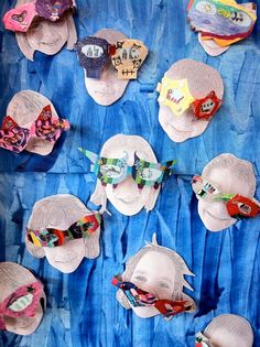 Wow Sunglasses by Art Yowza-good idea to display with prints of student artist faces