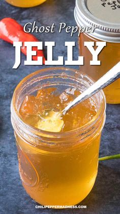 Hot Sauce Recipes, Jam Recipes, Canning Recipes, Spicy Recipes, Mexican Food Recipes, Pepper Jelly Recipes, Hot Pepper Jelly, Ghost Pepper Jelly Recipe, Dips