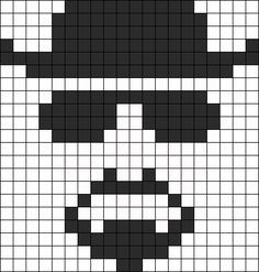 Kandi Patterns for Kandi Cuffs - Characters Pony Bead Patterns Kandi Patterns, Hama Beads Patterns, Beading Patterns, Just Cross Stitch, Cross Stitch Charts, Cross Stitch Patterns, Breaking Bad, Cross Stitching, Cross Stitch Embroidery