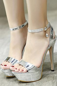 Womens Floarl Vogue T strapp metal decor ankle buckle block high heels shoes New