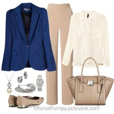 Navy Blazer by fiftynotfrumpy on Polyvore featuring H&M, Hobbs, Wallis, Fiorelli, Michael Kors, Oxxo, Oasis, Lord & Taylor, silver jewelry and blue blazer