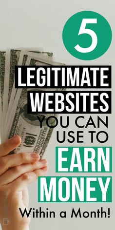 Check out 5 Legetimate websites to make money online from the comfort of your home. Using them, you can make money within a month. Source by Lifezeazy The post 5 Legitimate Websites to Make Money Online From Home appeared first on Mason Makes Money. Earn Money From Home, Make Money Fast, Make Money Blogging, Saving Money, Free Money, How To Earn Money, Investing Money, Ways Of Making Money, Making Money From Home