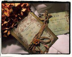 Tuscany Fall Vintage Wedding invitation