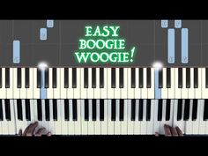 Jazz Sheet Music, Piano Music, Piano Lessons, Music Lessons, Guitar Scales, Boogie Woogie, Easy Piano, Music Education, Left Handed