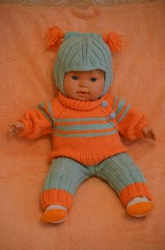 Baby born doll babyborn clothes clothes for BabyBorn baby b Knitting Dolls Clothes, Baby Doll Clothes, Knitted Dolls, Crotchet Patterns, Doll Patterns, Knitting Patterns, Knitting For Kids, Baby Knitting, Girl Dolls