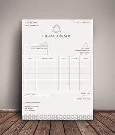 Invoice template  Photography invoice  Business invoice  Receipt     Invoice Template   Receipt Template   Invoice Instant Download   Microsoft  Word   Photoshop