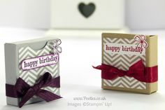 July 2, 2014 Stampin' up! UK Independent Demonstrator Pootles: No Stick Box Tutorial