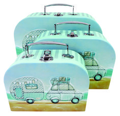 Mini Caravan Suitcase set